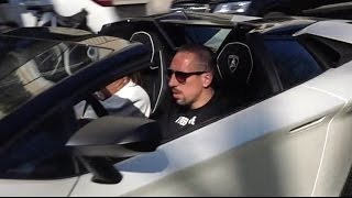 Download Franck Ribéry driving his new Lamborghini Aventador SV Roadster Video