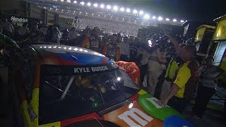 Download Kyle Busch and Truex Jr. tangle Video