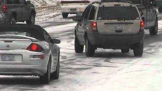 Download 1/19/2005 Cars on icy roads in Raleigh Video