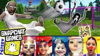 Download SNAPCHAT FILTER GAMES! FGTEEV Family Gaming Challenge (Football & Granny Slendrina Soccer Day Vlog) Video