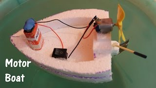 Download How to make an Electric Boat using Thermocol and DC motor Video