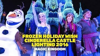 Download Frozen Holiday Wish Cinderella Castle Lighting 2016 (Magic Kingdom) Video