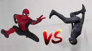 Download Spiderman vs Black Spiderman (Venom) In Real Life | Parkour vs Tricking Video