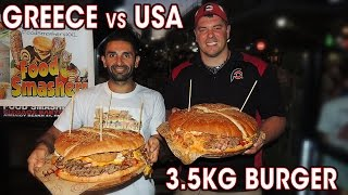 Download 3.5KG GREEK BURGER CHALLENGE IN ATHENS!! Video