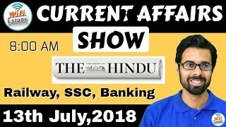 Download 8:00 AM - CURRENT AFFAIRS SHOW 13th July | RRB ALP/Group D, SBI Clerk, IBPS, SSC, UP Police Video