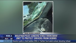 Download Police launching vehicle enforcement unit to protect drivers from debris Video