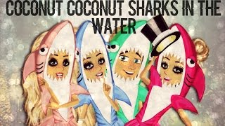 Download Coconut Coconut sharks in the water MSP |-/ Video