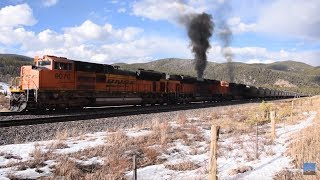 Download Restarting 12,000 tons on a 2% Grade Rio Grande Style, 3 SD70Ace leaders, Moffat Sub March 17, 2018 Video