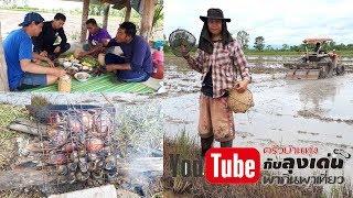Download จี่หอยเชอร์รี่ ปิ้งปู กุ้งเต้นสูตรน้าเล่ จับปลาในนาข้าว Video