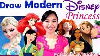 Download Art Challenges! Fun Art Video - Draw Disney Princess as MODERN GIRLS!   Mei Yu Video