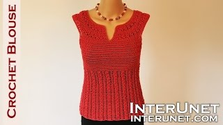 Download Crochet blouse - red sage stitch summer top crochet pattern Video