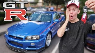 Download Surprising Tanner Fox with an R34 GTR Video