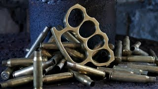 Download Casting Brass Knuckle Dusters from Brass Casings Video