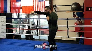 Download JOSEPH PARKER SHADOW BOXING AS HE PREPARES FOR ANTHONY JOSHUA SHOWDOWN Video