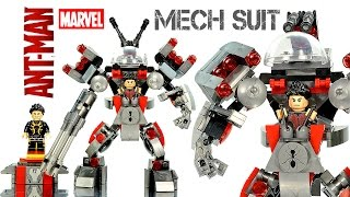 Download Avengers Ant-Man Mech Suit vs Yellow Jacket LEGO KnockOff Building Set Speed Build Video