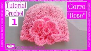 Download Gorro Bebé ″Rose″ Crochet (1) por Maricita Colours Tutorial Gratis Ganchillo Video