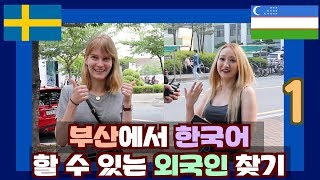 Download 부산에서 한국어 할 수 있는 외국인 찾기 1 Searching for the Korean speaking foreigners in Busan Video