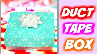 Download DIY Duct Tape Gift Box - Christmas // Holiday Jewelry Box How To + iPhone7 Giveaway Video