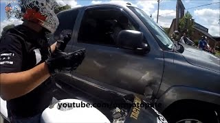 Download Truck Chases Down Bikers And Runs Over A Motorcycle! Road Rage 2016 Video