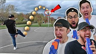 Download NERF RUSSIAN ROULETTE TRICK SHOT CHALLENGE!!! Video