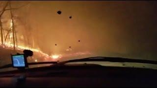 Download Gatlinburg Wildfire Evacuees' Dramatic Drive Down Mountain Video