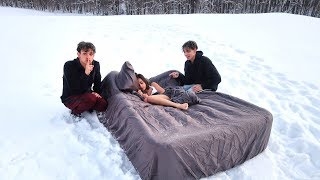 Download HOT GIRLFRIEND WAKES UP IN SNOW PRANK! Video