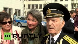 Download Germany: Red Army, US veterans meet in Torgau on Elbe Day Video
