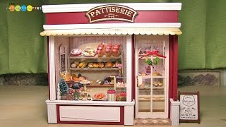 Download Miniature Dollhouse kit Bakery ドールハウスキット ミニチュアパン屋さん作り Video