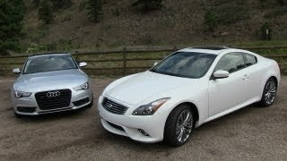 Download 2013 Audi A5 vs Infiniti G37 Coupe 0-60 MPH Mile High Mashup Review Video