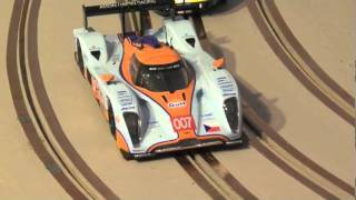 Download Custom Made Slot Car Track Building. Mountain road course Video