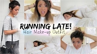 Download Get Ready with Me: Running Late | Quick Hair Fixes, Make up + Outfit! Video