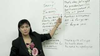 Download 5 ways to say sorry - Polite English Video