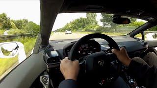Download 329 km/h in a Lamborghini Huracan - Sounds Video
