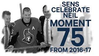 Download No. 75/100: Senators honour Chris Neil for playing 1000th game Video