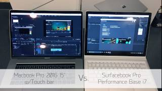 Download 2016 Macbook Pro 15″ Touch Bar Vs. Surfacebook Performance Bsae i7 Video