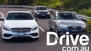 Download Audi A3 Sportback v BMW 1-Series v Mercedes-Benz A-Class Comparison | Drive.au Video