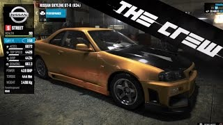 Download The Crew | Car Customization & Tuning - Nissan Skyline R34 GT-R, Visual, Performance (PS4) [HD] Video