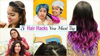 Download 5 Life Saving WEDDING HAIR HACKS You MUST Try | #LifeHacks #HairCare #Fun #Anaysa Video