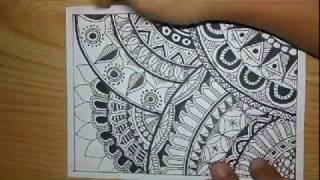 Download How To Zentangle Art Mode Fast and Quick Pola Batik Doodle Video