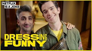 Download Tan France Gives John Mulaney a Hypebeast Makeover | Dressing Funny | Netflix Is A Joke Video