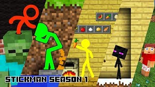 Download Stickman in Minecraft: Season 1 - Minecraft Animation Video