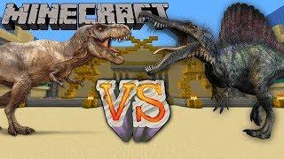Download JurassiCraft - 4 T-rex vs 2 Spinosaurus - Batallas de dinosaurios en minecraft! Video