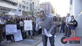 Download Liberal Protestors Mock Campus Reform Reporter During March Video
