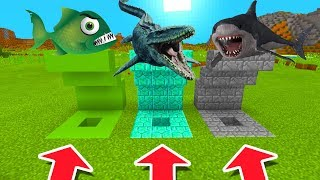 Download Minecraft PE : DO NOT CHOOSE THE WRONG HOLE! (Piranha, Mosasaurus & Megalodon) Video