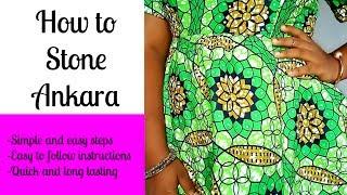 Download HOW TO STONE ANKARA DRESS | FASHION DIY 2017 Video