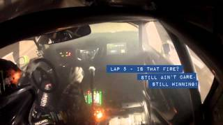 Download [HOONIGAN] Race Car on Fire? Ken Block #AINTCARE, Presses on During Rally-X Race. Video