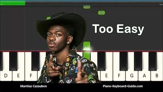 Download How to Play Old Town Road by Lil Nas X - Slow Very Easy Piano Tutorial Video