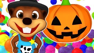 Download SUPER CIRCUS 3D Pumpkin Smash | ABC Color Balls, Learn Colours & Shapes | 3D Rhymes by Busy Beavers Video