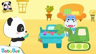 Download Baby Panda's Remote Control Truck | Build a Big House | Learn Shapes for Kids | BabyBus Video