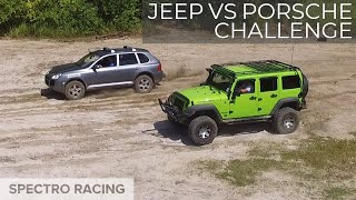 Download Jeep vs Porsche!?!? - Cayenne Turbo Hill Climb, Rock Crawling and Mud pits Video